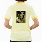 Great Dane harlequin  Women s Fitted Ringer T-Shirts Back