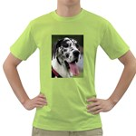 Great Dane harlequin  Green T-Shirt Front