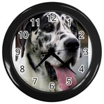 Great Dane harlequin  Wall Clocks (Black) Front