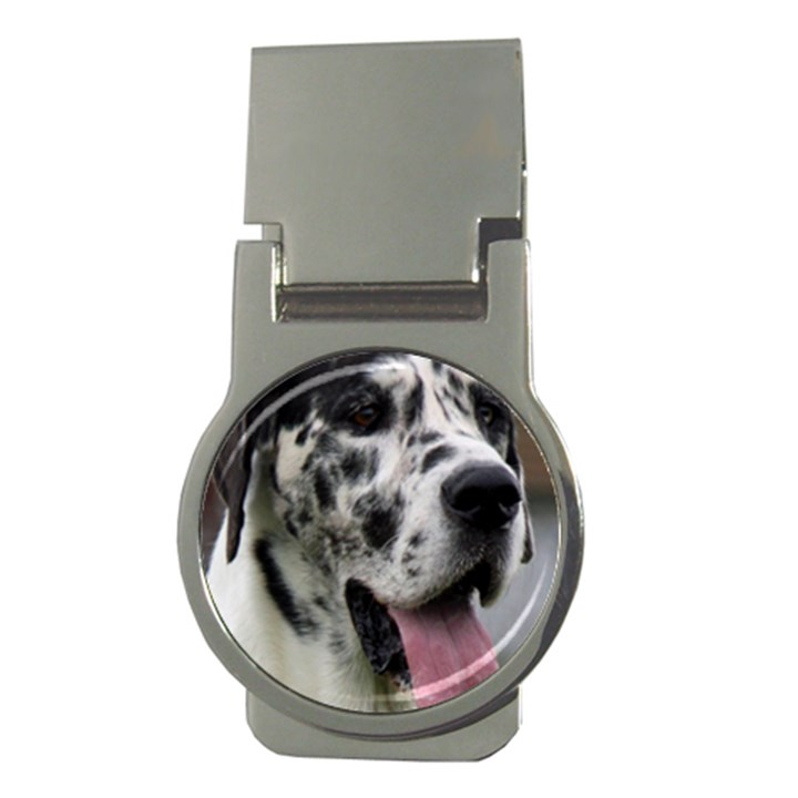 Great Dane harlequin  Money Clips (Round)