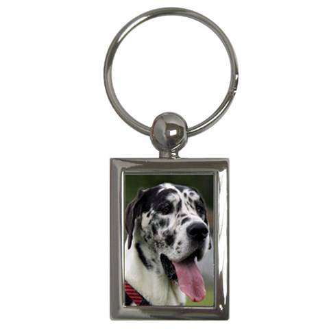 Great Dane harlequin  Key Chains (Rectangle)