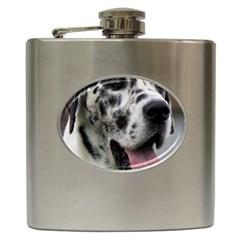 Great Dane Harlequin  Hip Flask (6 Oz)
