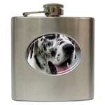 Great Dane harlequin  Hip Flask (6 oz) Front