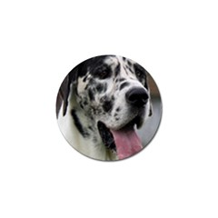 Great Dane Harlequin  Golf Ball Marker