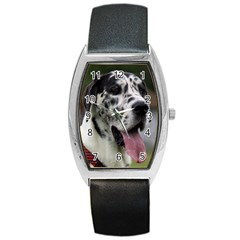 Great Dane Harlequin  Barrel Style Metal Watch