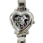 Great Dane harlequin  Heart Italian Charm Watch Front