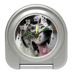 Great Dane harlequin  Travel Alarm Clocks Front