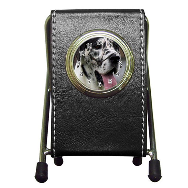 Great Dane harlequin  Pen Holder Desk Clocks