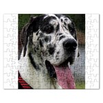 Great Dane harlequin  Rectangular Jigsaw Puzzl Front