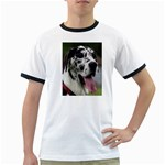 Great Dane harlequin  Ringer T-Shirts Front