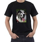 Great Dane harlequin  Men s T-Shirt (Black) (Two Sided) Front