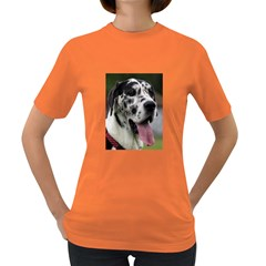 Great Dane harlequin  Women s Dark T-Shirt