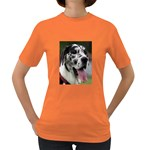 Great Dane harlequin  Women s Dark T-Shirt Front