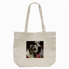 Great Dane Harlequin  Tote Bag (cream)