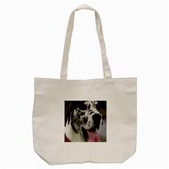Great Dane harlequin  Tote Bag (Cream)