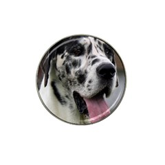Great Dane harlequin  Hat Clip Ball Marker (4 pack)