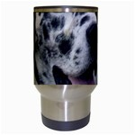 Great Dane harlequin  Travel Mugs (White) Center