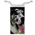Great Dane harlequin  Jewelry Bags Front