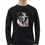 Great Dane harlequin  Long Sleeve Dark T-Shirts Front