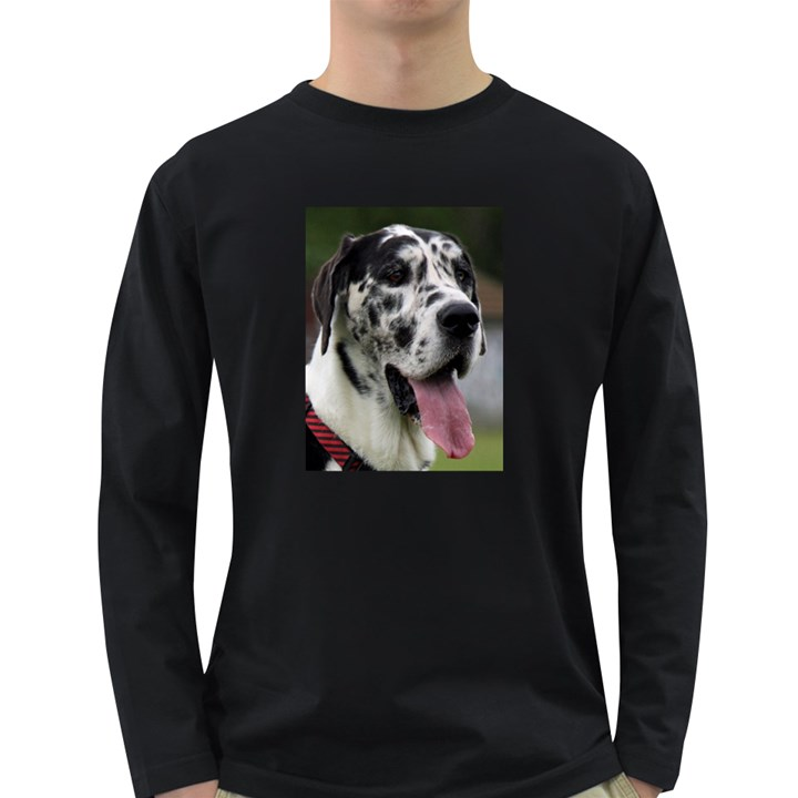 Great Dane harlequin  Long Sleeve Dark T-Shirts