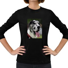 Great Dane harlequin  Women s Long Sleeve Dark T-Shirts