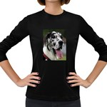 Great Dane harlequin  Women s Long Sleeve Dark T-Shirts Front