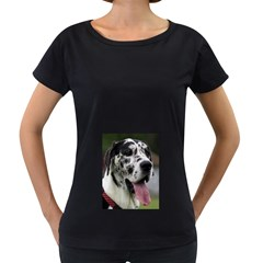 Great Dane harlequin  Women s Loose-Fit T-Shirt (Black)