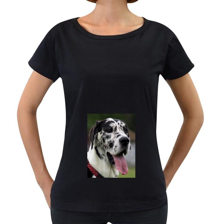 Great Dane harlequin  Women s Loose-Fit T-Shirt (Black)