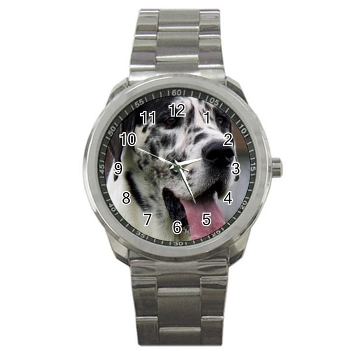 Great Dane harlequin  Sport Metal Watch