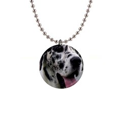 Great Dane harlequin  Button Necklaces