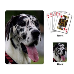 Great Dane harlequin  Playing Card
