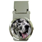 Great Dane harlequin  Money Clip Watches Front