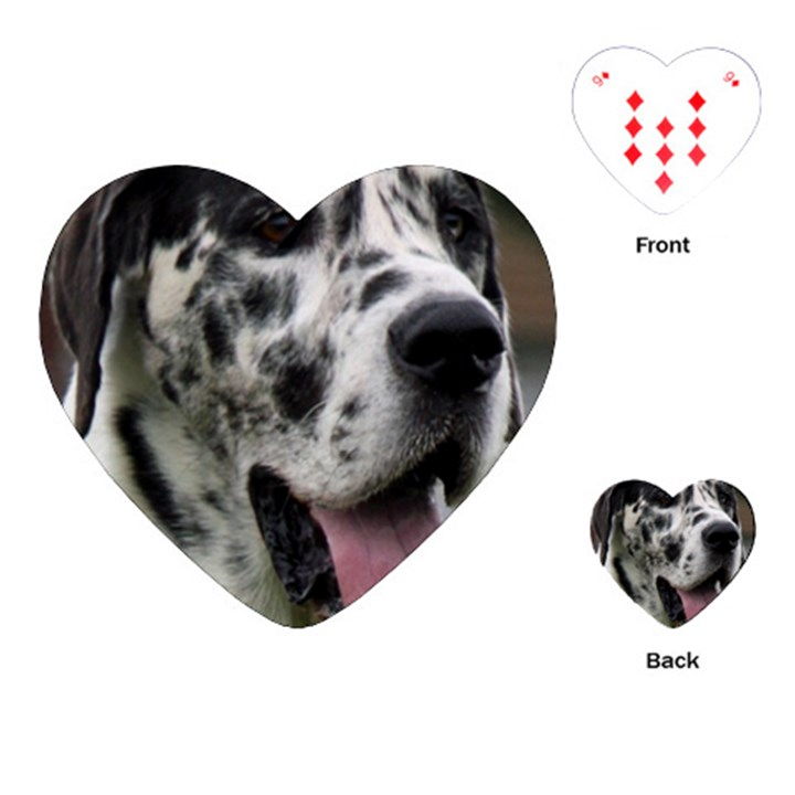 Great Dane harlequin  Playing Cards (Heart)