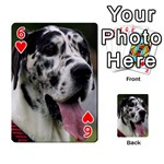 Great Dane harlequin  Playing Cards 54 Designs  Front - Heart6