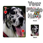 Great Dane harlequin  Playing Cards 54 Designs  Front - Heart7