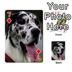 Great Dane harlequin  Playing Cards 54 Designs  Front - Diamond7