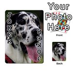 Great Dane harlequin  Playing Cards 54 Designs  Front - Joker1