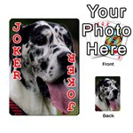 Great Dane harlequin  Playing Cards 54 Designs  Front - Joker2