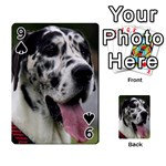 Great Dane harlequin  Playing Cards 54 Designs  Front - Spade9