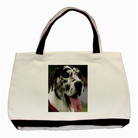Great Dane harlequin  Basic Tote Bag