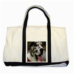 Great Dane harlequin  Two Tone Tote Bag Front