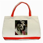 Great Dane harlequin  Classic Tote Bag (Red) Front