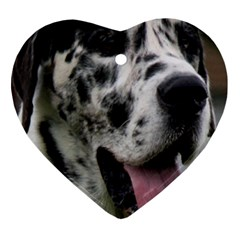 Great Dane harlequin  Heart Ornament (2 Sides)