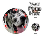 Great Dane harlequin  Playing Cards 54 (Round)  Front - Heart7