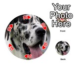 Great Dane harlequin  Playing Cards 54 (Round)  Front - Heart10