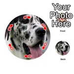 Great Dane harlequin  Playing Cards 54 (Round)  Front - DiamondQ