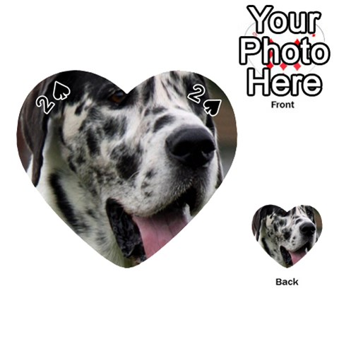 Great Dane harlequin  Playing Cards 54 (Heart)