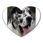 Great Dane harlequin  Heart Mousepads Front