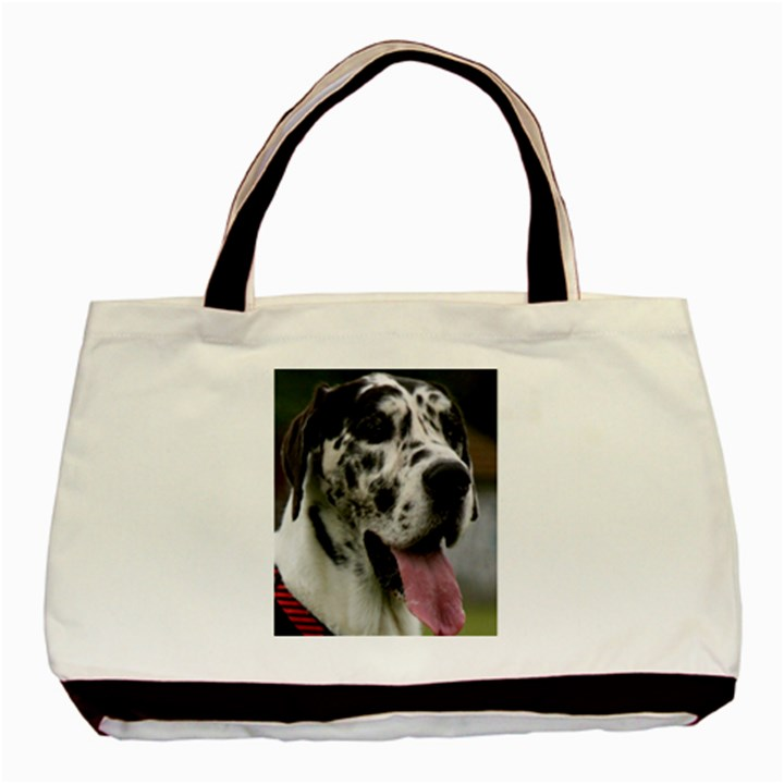 Great Dane harlequin  Basic Tote Bag (Two Sides)