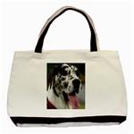 Great Dane harlequin  Basic Tote Bag (Two Sides) Back